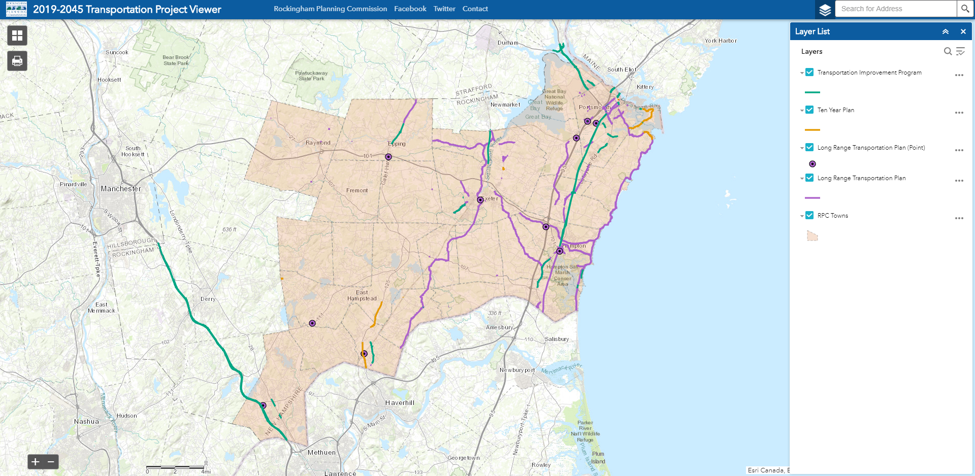 Transportation Project Web Viewer Application